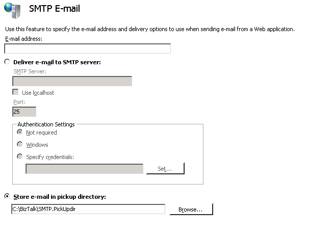 Configure SMTP Testserver – Think * Share * Integrate